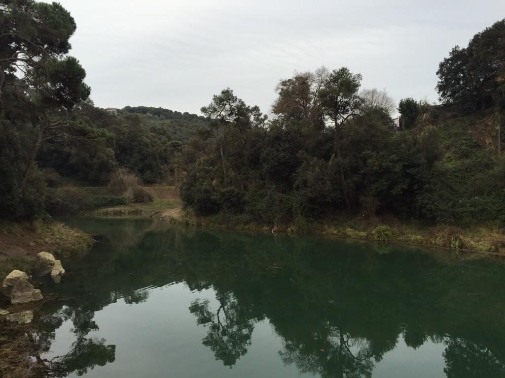 Llac vallvidrera torrent de la budellera
