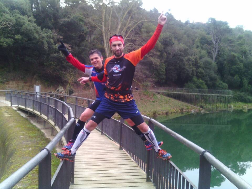 Llac Granotes Vallvidrera pont pistarunner