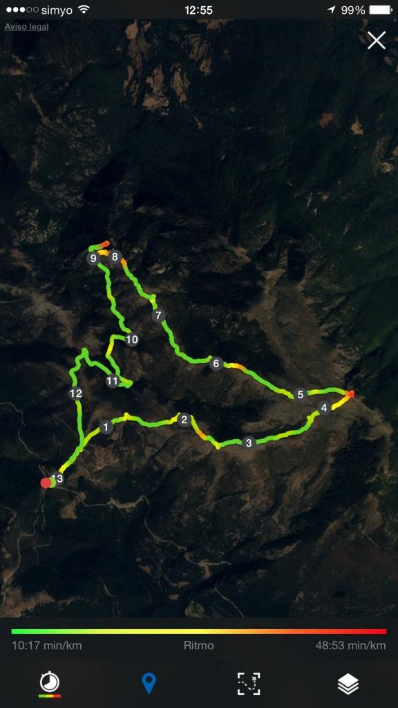 recorrido circular matagalls collfomic pistarunner