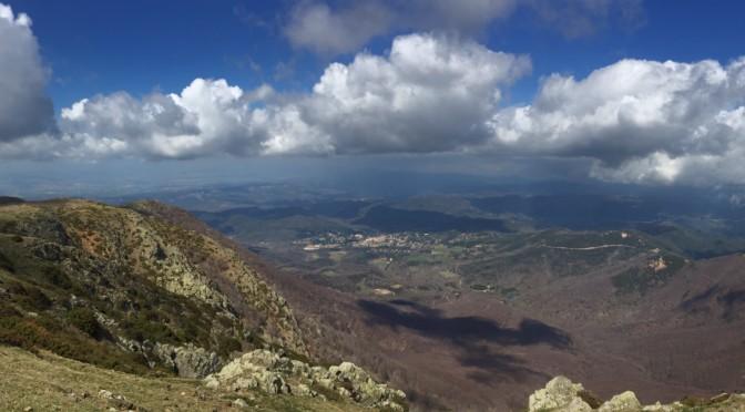 vistas panorámica Matagalls Montseny pista runner
