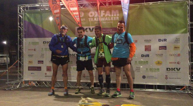 Llegada Oxfam Trailwalker Girona Corresolidaris