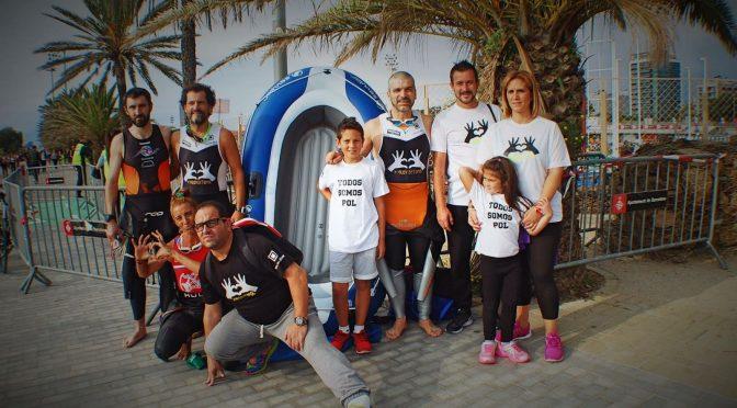 """<span lang =""""ca"""">Triatló de Barcelona Solidària amb «Proyecto Pol»</span>"""